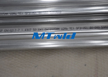 ASTM A270 Round Stainless Steel Welded Tube Untuk Merebus Air