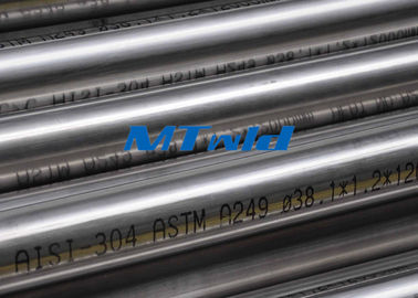Heat Exchanger Stainless Steel Welded Tubing ASTM A270 / A249 Untuk Papermarking