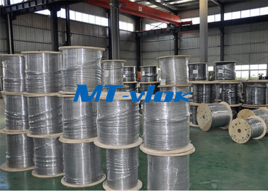 Cina 08/01 Inch Super Long Coiled Stainless Steel Tubing terang Anil Permukaan pemasok
