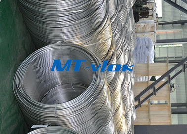 Cina TP316 / 316L Stainless Steel Welded Super Long Coiled Tabung Untuk Industri Petrokimia pemasok