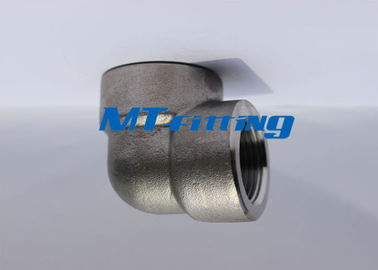 Threaded F91 ASTM A105 Stainless Steel Ditempa Pipa Tekanan Tinggi Fittings ASME 16.11