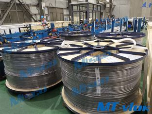 1/2 Inch Nikel Alloy Welded Coiled Tubing Alloy 825 BA Permukaan