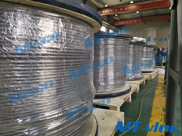 Alloy 825 / N08825 Welded Coiled Tubing 12.7 * 1.24mm Untuk Pre Insulated Tubing