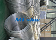 Cina TP316 / 316L Stainless Steel Welded Super Long Coiled Tabung Untuk Industri Petrokimia pabrik